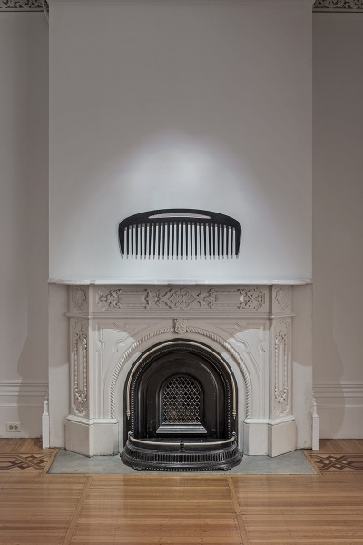 comb and fireplace